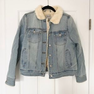 Primark Womens Denim Jacket with Shearling